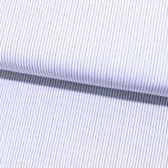 Tecido Tricoline Fio 60 - Alexandria 180 - Listas PP Verde e Azul - Fundo Branco