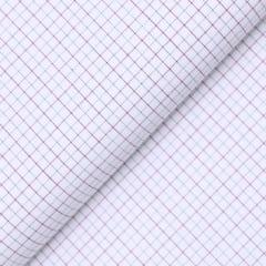 Tecido Tricoline Fio 60 - Florença 02 - Quadriculado Preto e Vermelho - Fundo Branco