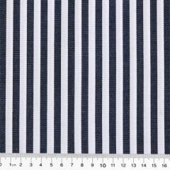 Tecido Camisaria Tricoline Fio 70 - Anit 05 - Listras - Preto - 100% Algodão