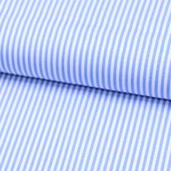 Tecido Tricoline Fio 70 - Anit 16 - Listras P - Azul Claro