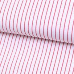 Tecido Tricoline Fio 70 - Anit 15 - Listras  - Vermelho Cereja
