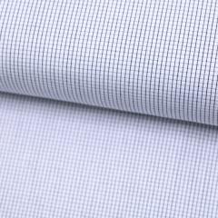 Tecido Tricoline Fio 70 - Anit 30 - Xadrez Micro - Preto - 100% Algodão