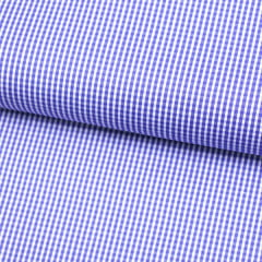 Tecido Tricoline Fio 70 - Anit 33 - Xadrez PP - Azul Royal