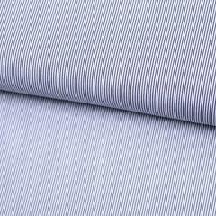 Tecido Tricoline Fio 70 - Anit 41 - Listras Micro - Preto - 100% Algodão