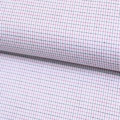 Tecido Tricoline Fio 70 -  Anit 54 - Xadrez delicado - Preto e Vermelho