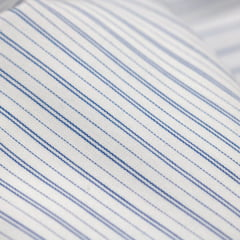 Tecido Tricoline Fio 70 -  Anit 51 - Listras Duplas - Azul Royal