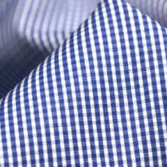 Tecido Camisaria Tricoline Fio 70 - Anit 33 - Xadrez PP - Azul Royal - 100% Algodão