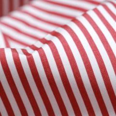 Tecido Tricoline Fio 70 - Anit 35 - Listras - Vermelho