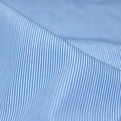 Tecido Tricoline Fio 70 -  Anit 26 - Listras Micro - Azul Claro - 100% Algodão