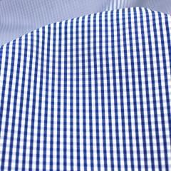 Tecido Tricoline Fio 70 - Anit 29 - Xadrez P - Azul Marinho