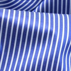 Tecido Tricoline Fio 80 - Milão 05 - Listras - Azul Royal e Branco -100% Algodão