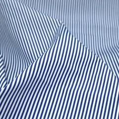Tecido Tricoline Fio 70 -  Anit 20 - Listras P - Azul Royal