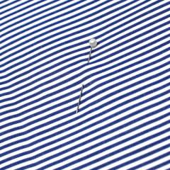 Tecido Tricoline Fio 70 -  Anit 20 - Listras P - Azul Royal  - 100% Algodão