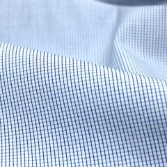 Tecido Tricoline Fio 70 - Anit 48 - Xadrez Micro - Azul Royal