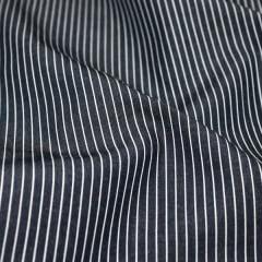 Tecido Tricoline Fio 70 - Anit 22 - Listras - Branco com fundo Preto