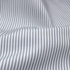 Tecido Tricoline Fio 70 - Anit 08 - Listras P - Cinza