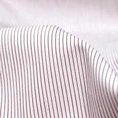 Tecido Tricoline Fio 70 - Anit 12 - Listras  - Vermelho fundo Branco