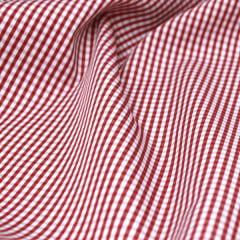 Tecido Tricoline Fio 70 - Anit 39 - Xadrez P - Vermelho