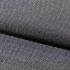 Tecido Tricoline Fio 80 - Vicenza 03 - Maquinetado - Preto - 100% Algodão